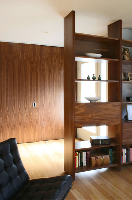 Room Divider Bookcase Living Room Transitional with Barcelona Chair Bookcase Bookshelves