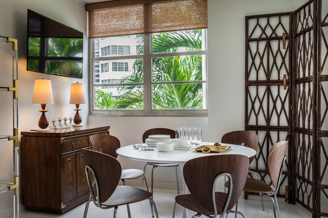 Room Divider Screens Dining Room Tropical with Bamboo Screen Dark Wood