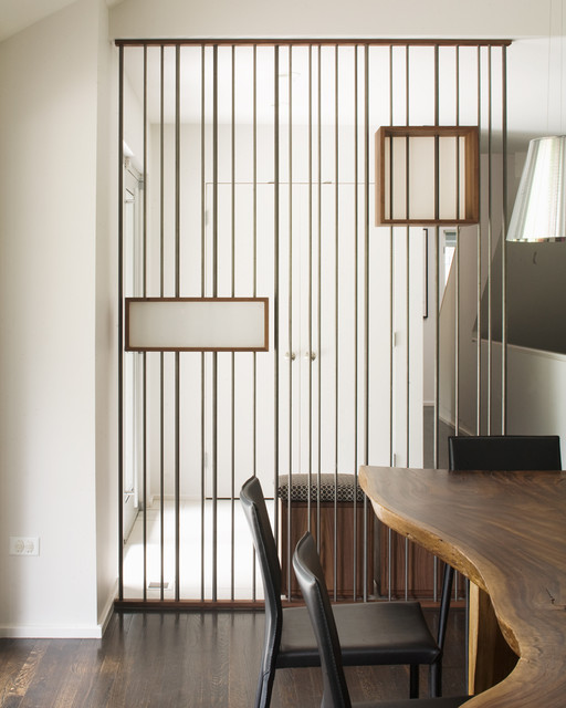Room Divider Screens Entry Modern with Dark Floor Foyer Leather