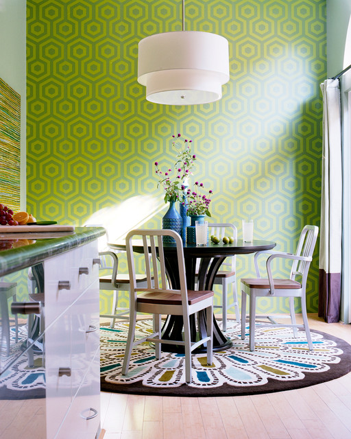 Round Rugs Ikea Dining Room Transitional with Bold Breakfast Room Contemporary