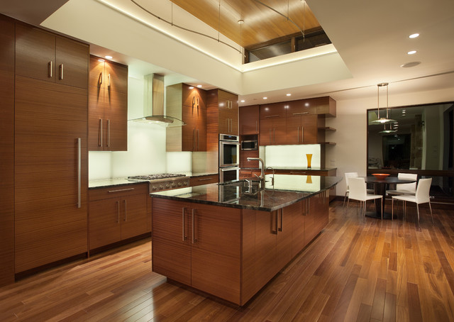 Rta Kitchen Cabinets Kitchen Modern with Backlit Backsplash Bar Stools