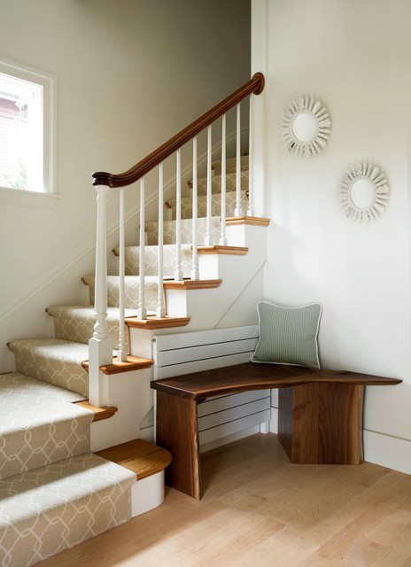 Runtal Radiators Staircase Transitional with Corner Bench Open Spaces