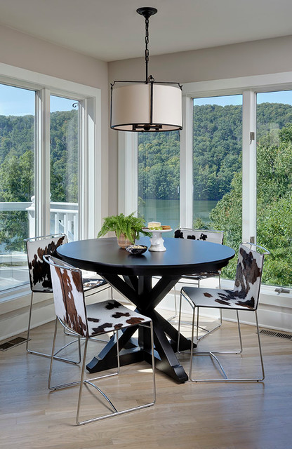 Saloom Furniture Dining Room Contemporary with Casual Elegance Chairs Chandelier