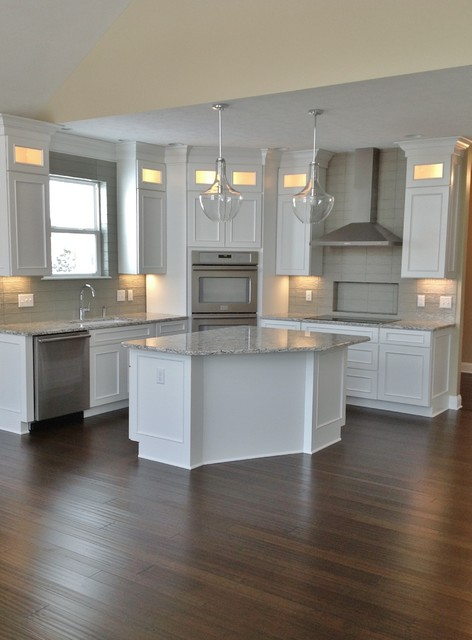 Sandusky Cabinets Kitchen Contemporary with Above Cabinet Lighting Contemporary