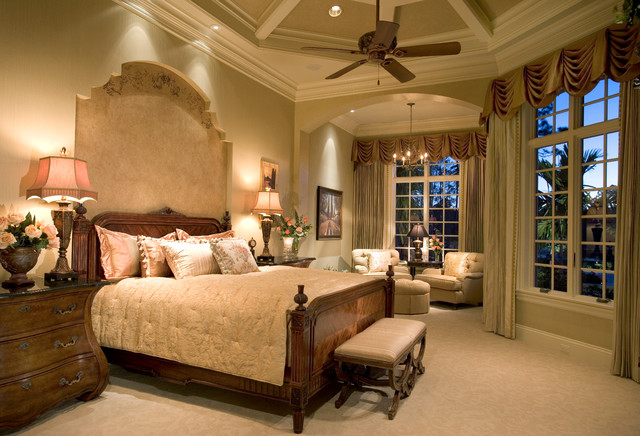 sater design Bedroom Traditional with bed nook bedroom bench