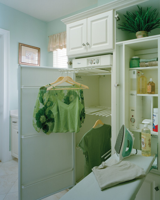 sater design Laundry Room Traditional with built in cabinetry hangers