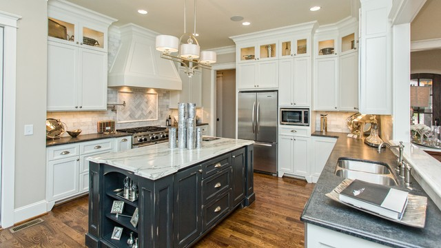 Savoy Lighting Kitchen Traditional with Ceiling Lighting Distressed Cabinets