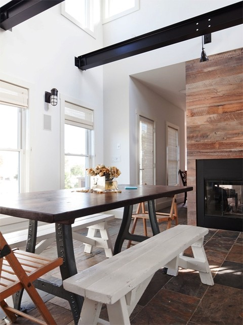Sawhorse Table Dining Room Contemporary with Dining Room Dining Tables