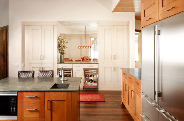 schaub hardware Kitchen Transitional with aspen cabinet bar pulls