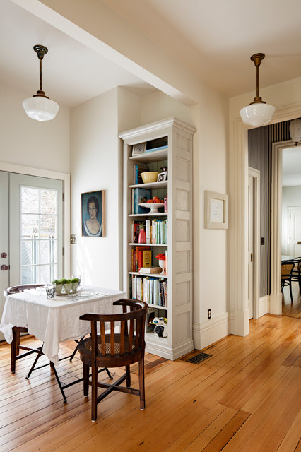 Schoolhouse Lighting Dining Room Victorian with Beige Bookcase Beige Bookshelf