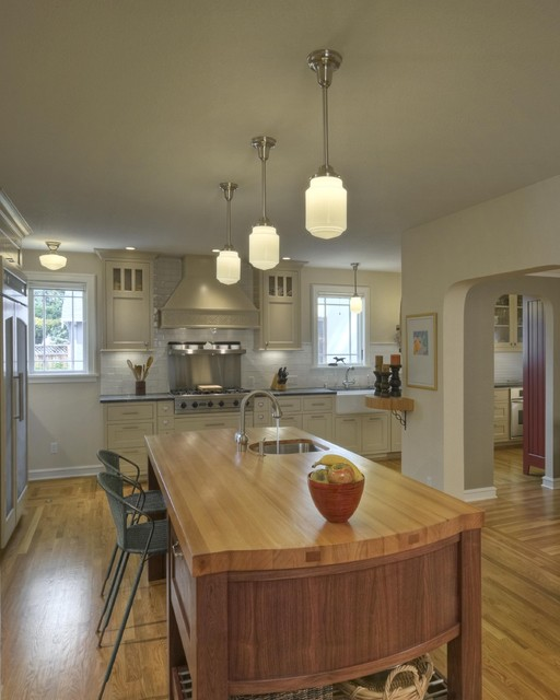 Schoolhouse Lighting Kitchen Traditional with Apron Sink Archway Breakfast