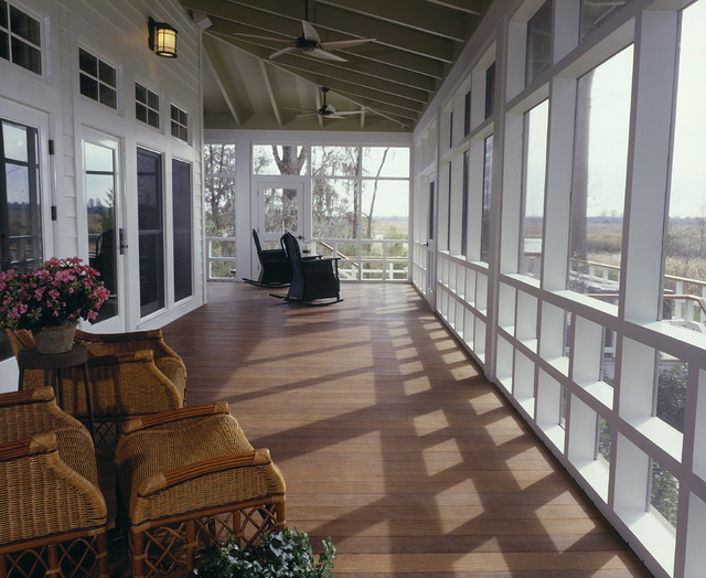 Screened in Porch Ideas Porch Farmhouse with Ceiling Fan Deck Enclosed