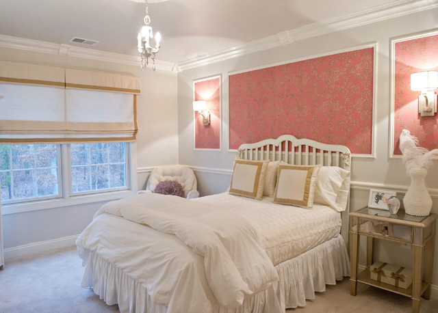 Seabrook Wallpaper Bedroom Traditional with Bedroom Carpet Girls Room