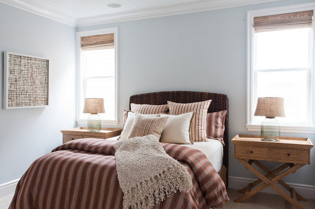 seagrass headboard Bedroom Beach with beachy home beadboard ceiling