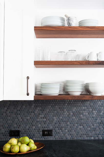 Sealing Grout Kitchen Modern with Floating Shelves Fruit Bowl