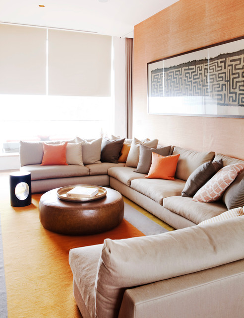 sectional couches Family Room Beach with beach contemporary artwork contemporary