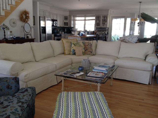 Sectional Sofa Slipcovers Spaces Eclectic with Alley Box Pleat Canvas