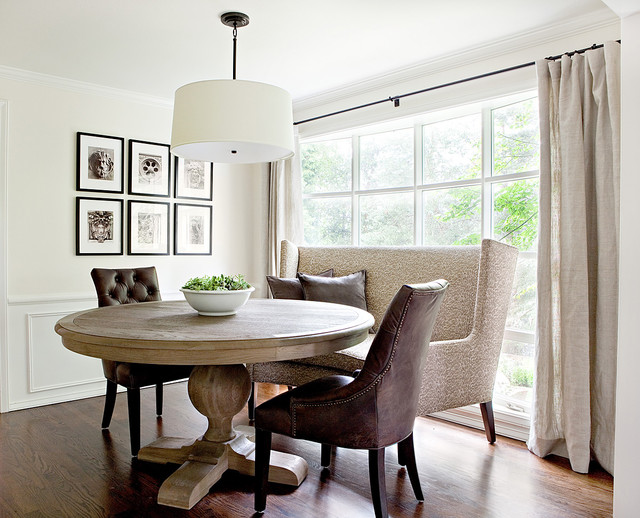 Setee Dining Room Traditional with Beige Banquette Beige Booth