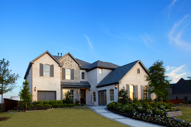 Shaddock Homes Exterior Traditional with Brick Exterior Home Builders2