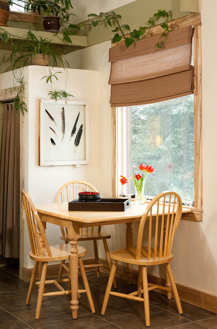 Shadowbox Frames Dining Room Rustic with Cabin Small Dining Space