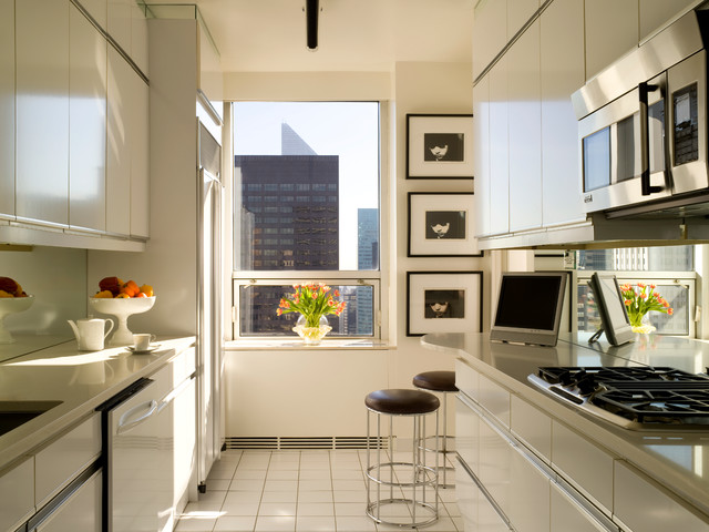 Shadowbox Frames Kitchen Contemporary with City View Counter Stools