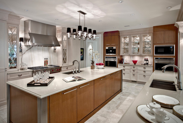 Shaker Cabinet Doors Kitchen Transitional with Cove Lights Cup Pulls