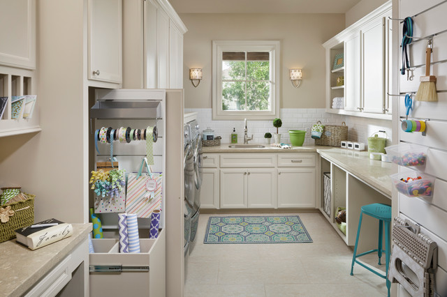 Shape Sorter Laundry Room Traditional with Craft Room Gift Wrapping