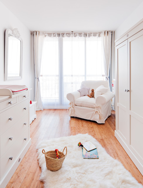 Sheepskin Rug Nursery Farmhouse with Armoire Blanche Bois Et