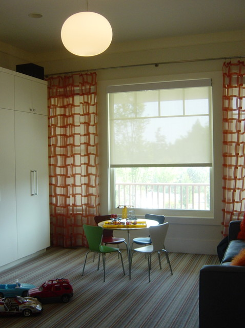 Sheer Curtain Panels Kids Modern with Geometric Prints Kid Table