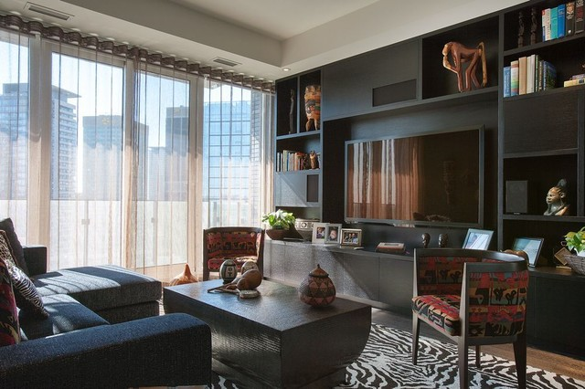 Sheer Window Panels Family Room Contemporary with Condo Contemporary Downsview Kitchens