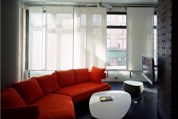 Sheer Window Panels Living Room Modern with Concrete Floor Couch Oval