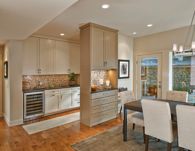 Sherwin Williams Kilim Beige Kitchen Transitional with Area Rug Beige Dining2