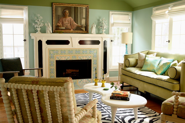 Sherwin Williams Kilim Beige Living Room Transitional with Eclectic Decor Framed Painting