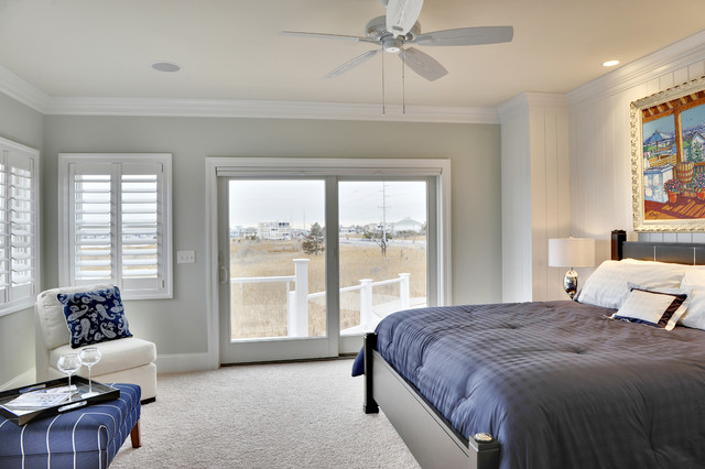 Sherwin Williams Sea Salt Bedroom Beach with Accent Wall Baseboards Ceiling