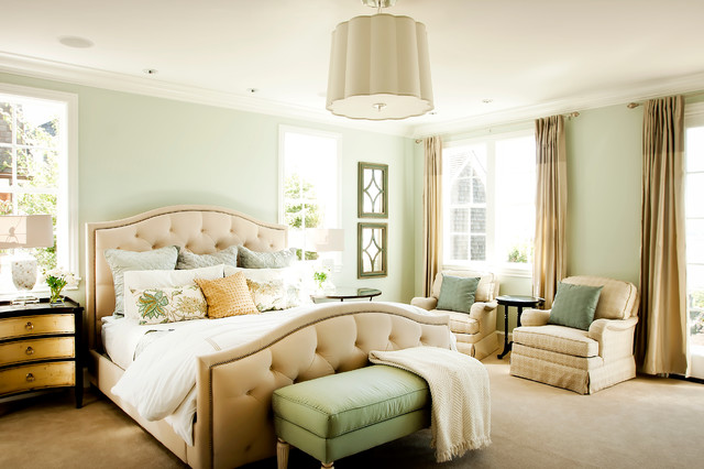 Sherwin Williams Sea Salt Bedroom Traditional with Beige Carpet Beige Drapes