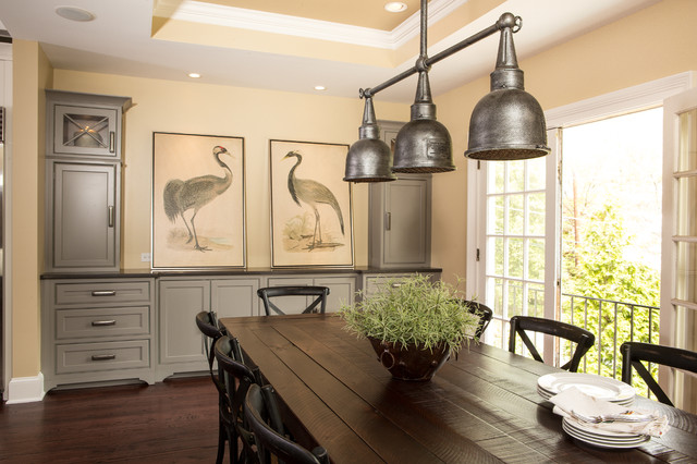 Shiloh Cabinets Dining Room Transitional with Ansley Park Atlanta Built