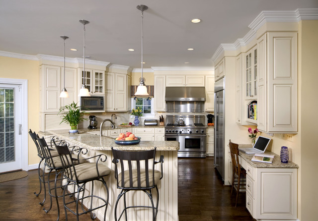 Shiloh Cabinets Kitchen Traditional with Beadboard Breakfast Bar Ceiling