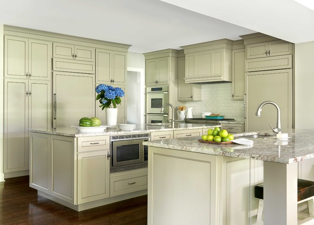 Shiloh Cabinets Kitchen Traditional with Concealed Appliances Glazed Cabinets