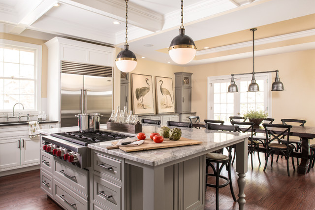 Shiloh Cabinets Kitchen Transitional with Ansley Park Atlanta Coffered