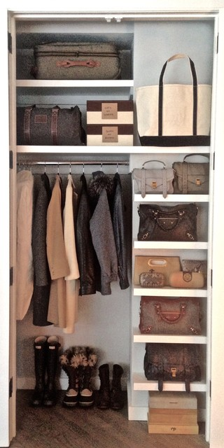 Shoe Closet Organizer Spaces Traditional with Coats Luggage Handbags Storage
