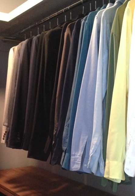 Shoe Closet Organizer Spaces Transitional with Blazers Blouses Storage Organization