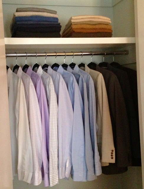 Shoe Closet Organizer Spaces Transitional with Dress Shirts Storage Organization
