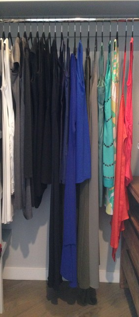Shoe Closet Organizer Spaces Transitional with Dresses Storage Organization