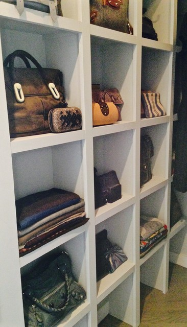 Shoe Closet Organizer Spaces Transitional with Handbags Scarves Storage Organization