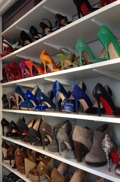 shoe closet organizer Spaces Transitional with shoes storage organization