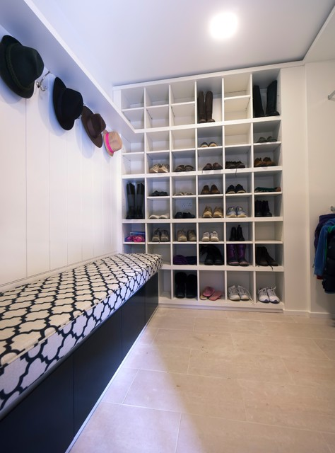 Shoe Rack Ikea Laundry Room Contemporary with Boot Room Built In4