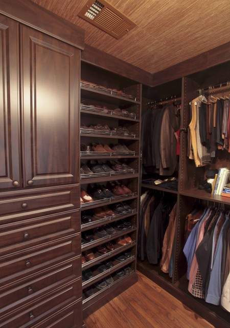 Shoe Racks for Closets Closet Traditional with Dark Wood Cabinets Hanging