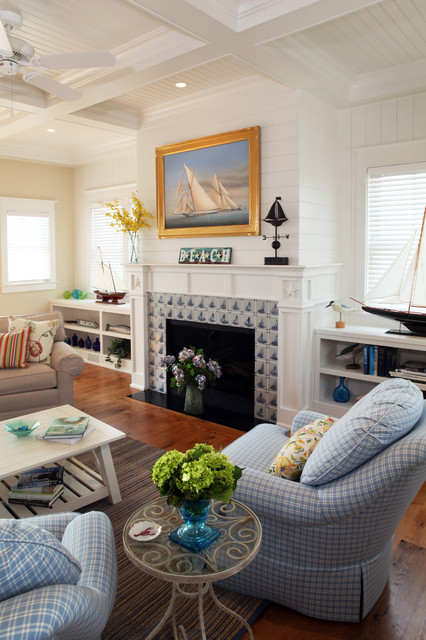 Short Bookcase Living Room Beach with Beach House Beadboard Blue