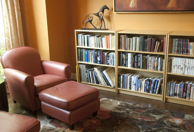 Short Bookcase Living Room Traditional with Categoryliving Roomstyletraditionallocationportland