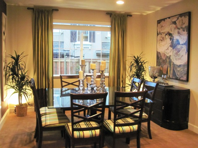 Short Curtain Rods Dining Room Contemporary with Categorydining Roomstylecontemporarylocationother Metro